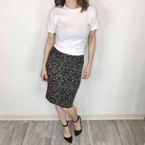 LULAROE Cassie pencil skirt brown & black 0337